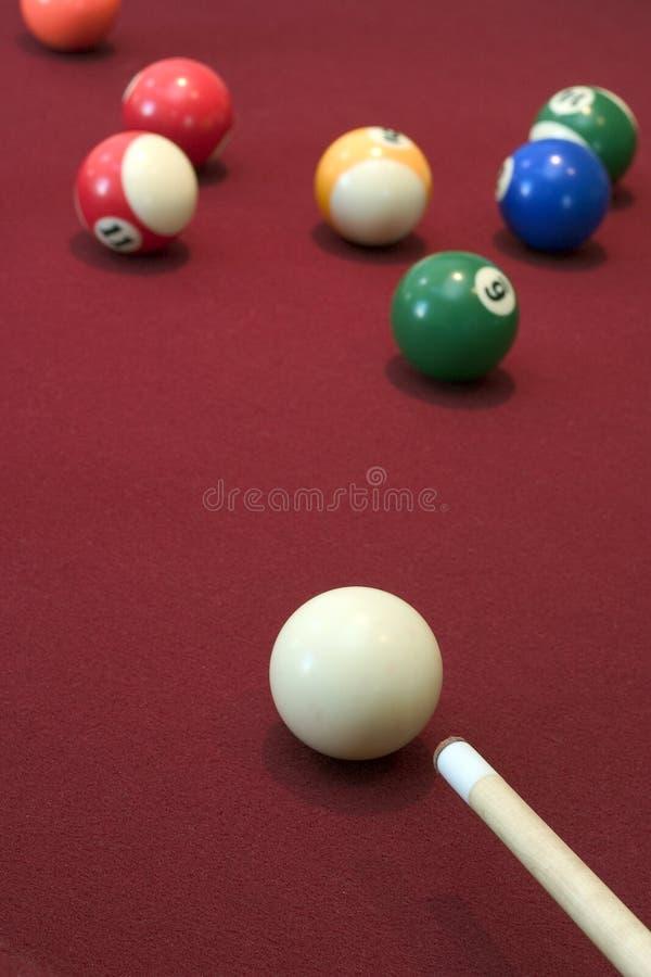 Pool-Spiel stockfotos