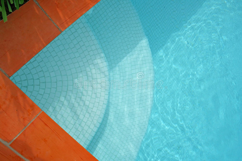 Pool Steps royalty free stock images