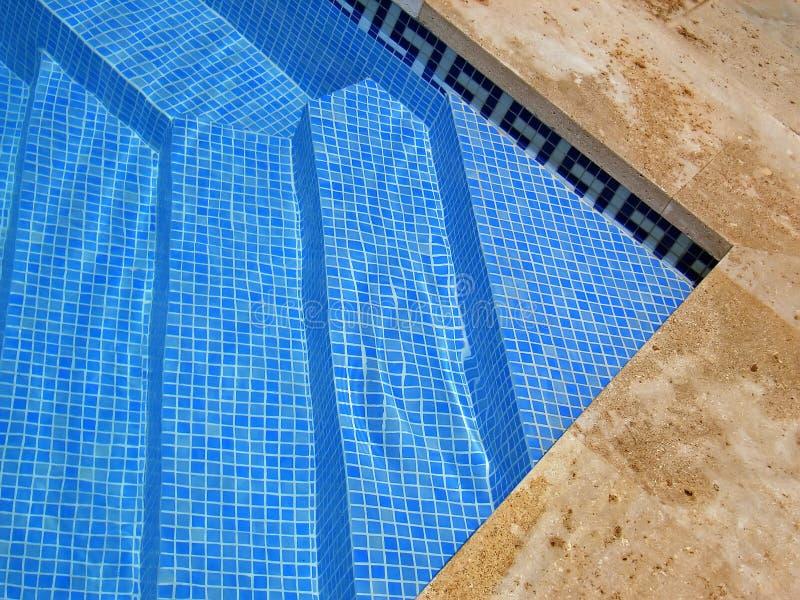Pool Steps stock photo