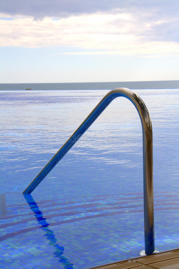 Download Pool steps and handrail stock photo. Image of oceanfront - 23396960