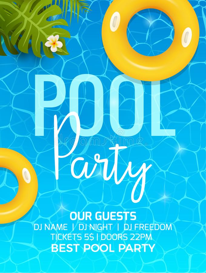 Pool Summer Party Invitation Template Invitation. Pool Party ...