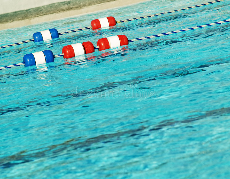 Pool with swim lanes royalty free stock photos