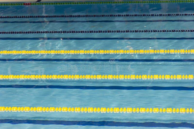 Pool, swimming pool, piscina, piscine, tank, rope, string, twine, chord, line, chorda, swimming, swim, natation, water, aqua royalty free stock photos