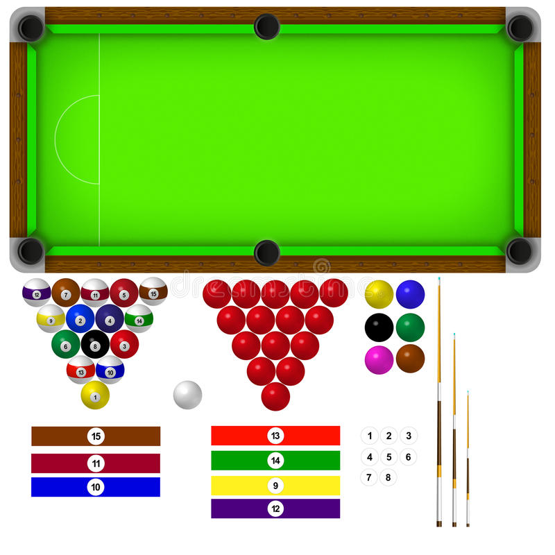 Download Pool Table stock vector. Illustration of biliard, hobby - 20855407