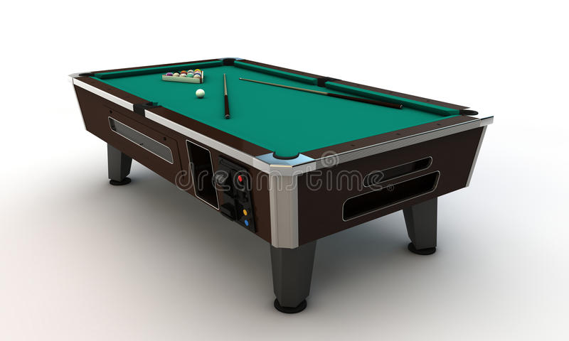 Pool table. On white background stock illustration