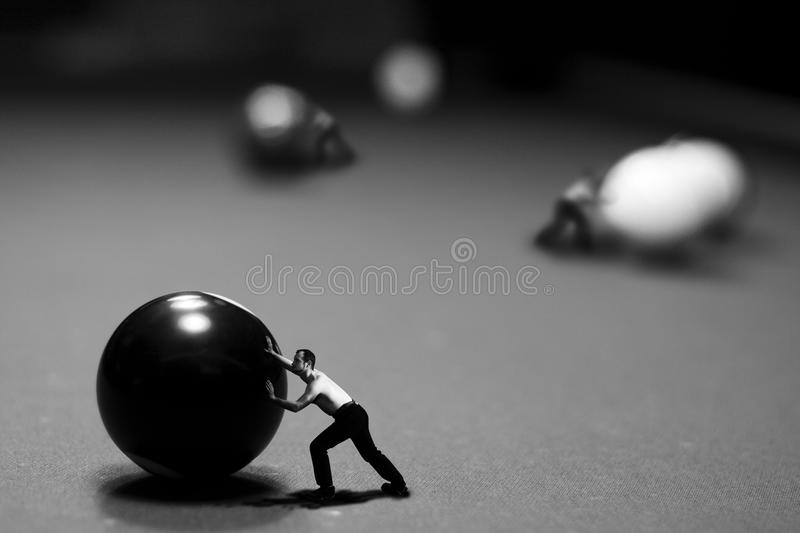 At the pool table stock images