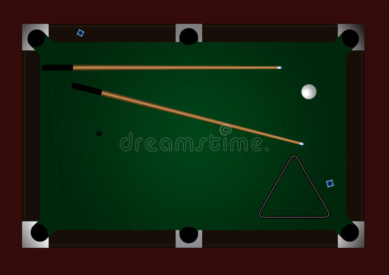 Pool table. Editable vector pool table background with space for your text royalty free illustration