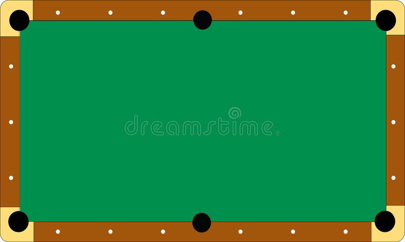 Pool table without balls. Illustration of a professional pool table without balls (additional format addeed stock illustration
