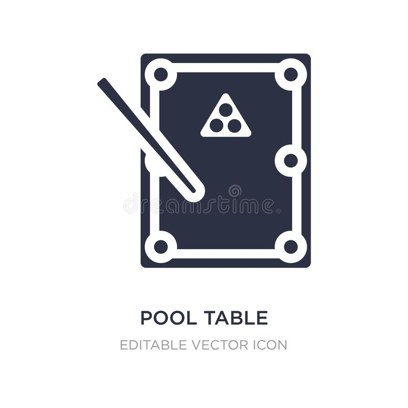 Pool table icon on white background. Simple element illustration from Gaming concept. Pool table icon symbol design stock illustration