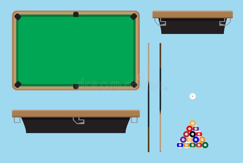 Download Pool Table Top Side Stock Vector. Image Of Billiard, Pool    69617581