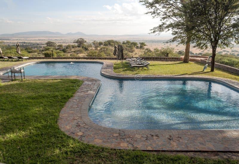 Pool in Tanzania stock afbeeldingen