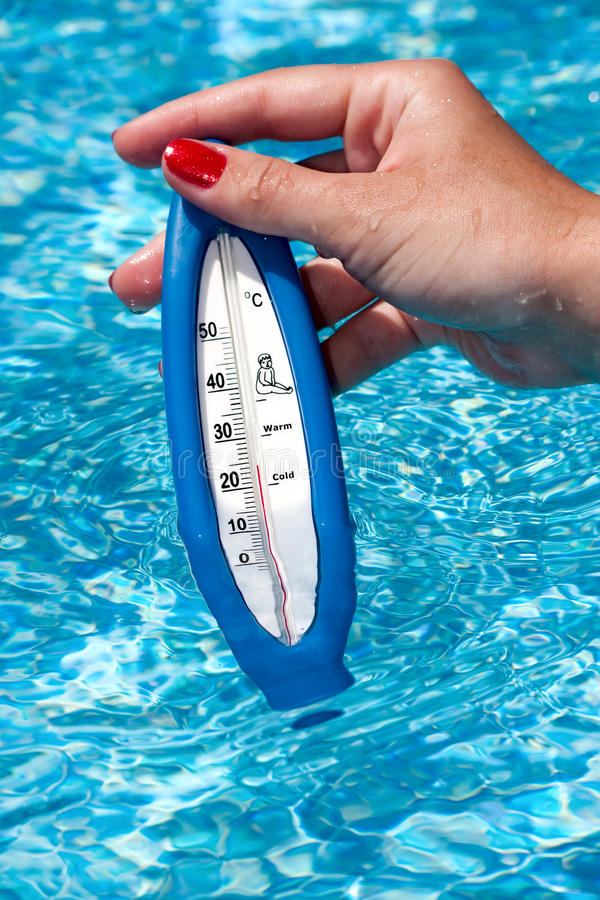 Free Pool Thermometer Royalty Free Stock Image - 14566106