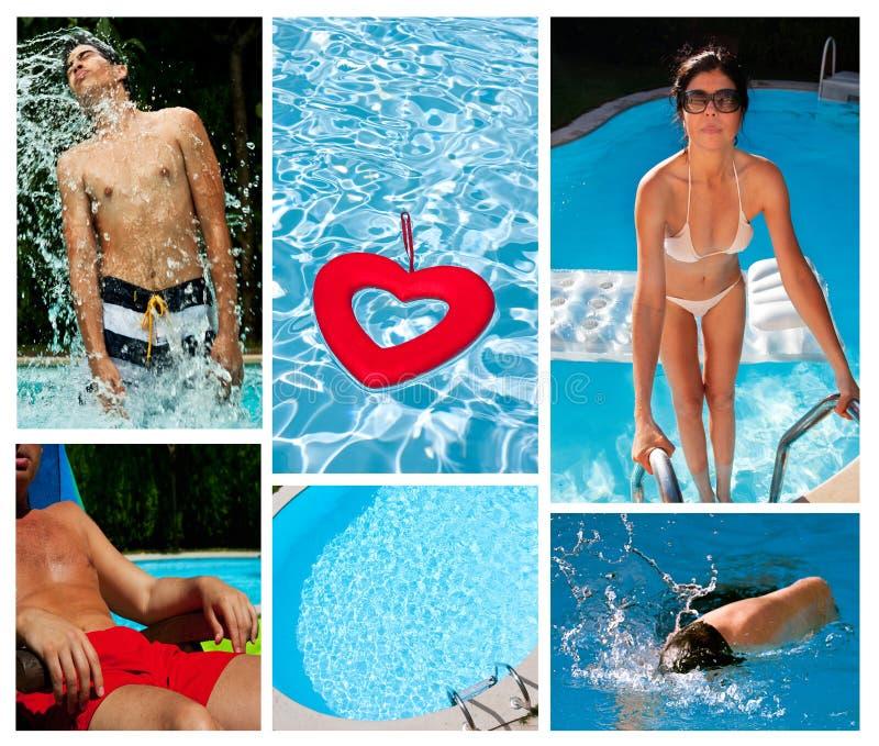 Pool und Sommerkonzept stockfotografie