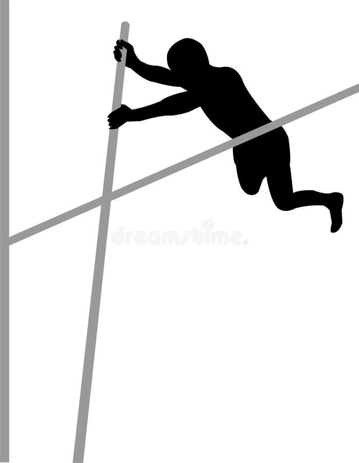 Pool Vaulter royalty-vrije illustratie