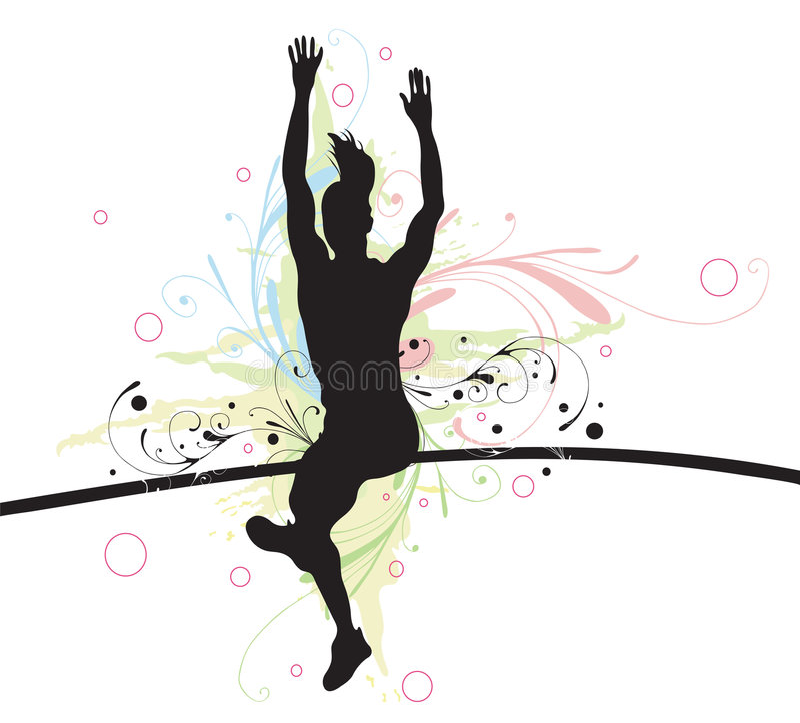 Pool vaulter vector illustratie