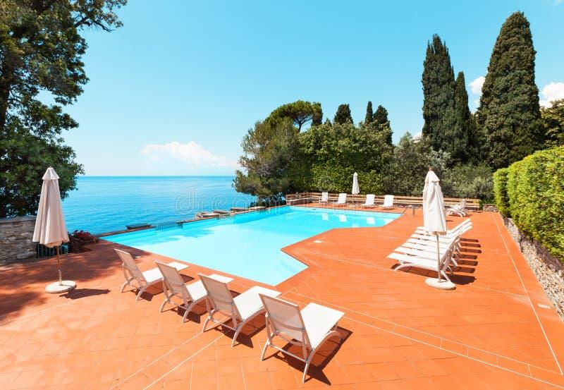 Download Pool of a villa stock photo. Image of umbrella, terracotta - 42172910