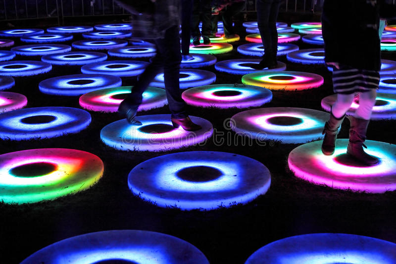 The Pool at Vivid Sydney stock photography