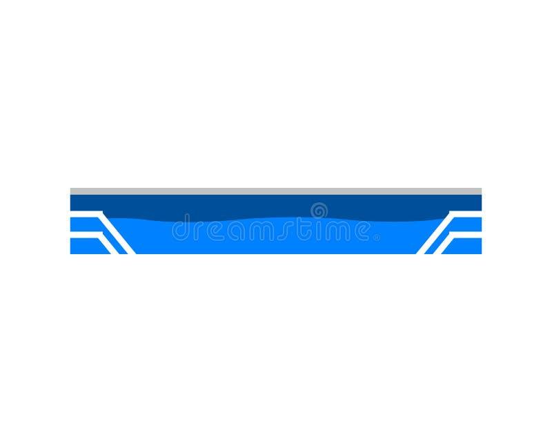 Pool-Wasser-Ikonen-Vektor Logo Template stock abbildung