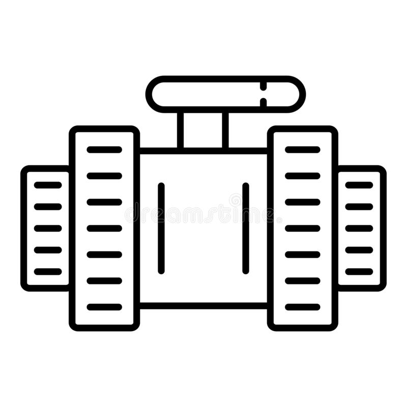 Pool water tap icon, outline style royalty free illustration
