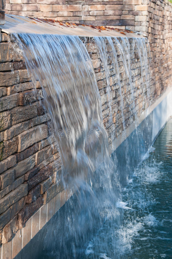 Pool Waterfall stock photography