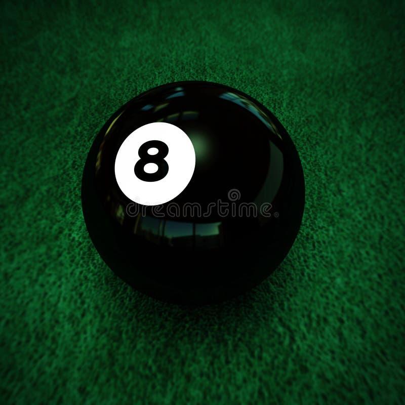 Poolbal nummer acht stock illustratie