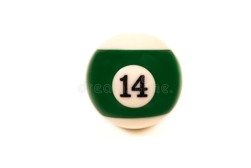 Poolball der Nr. vierzehn lizenzfreies stockbild
