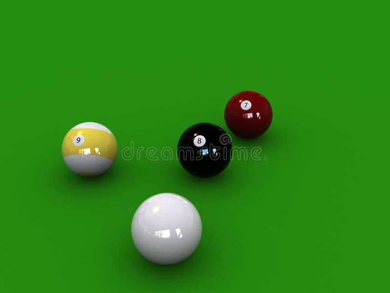 PoolBalls stock de ilustración