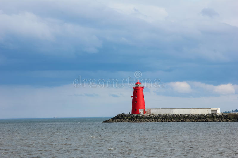 Poolbeg lighthouse. Dublin. Ireland royalty free stock photo