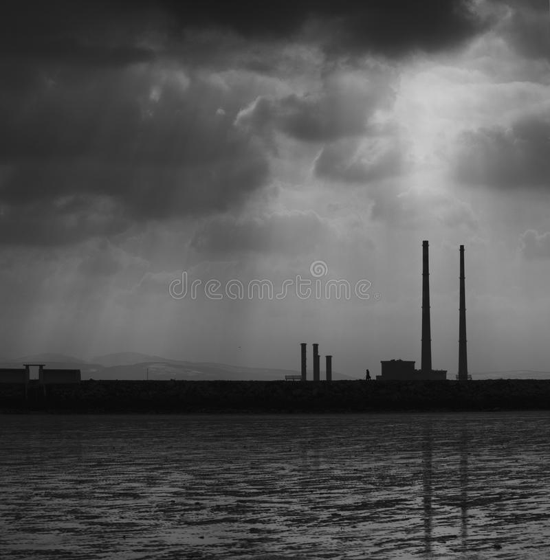 Poolbeg Towers, Ringsend, Dublin stock images