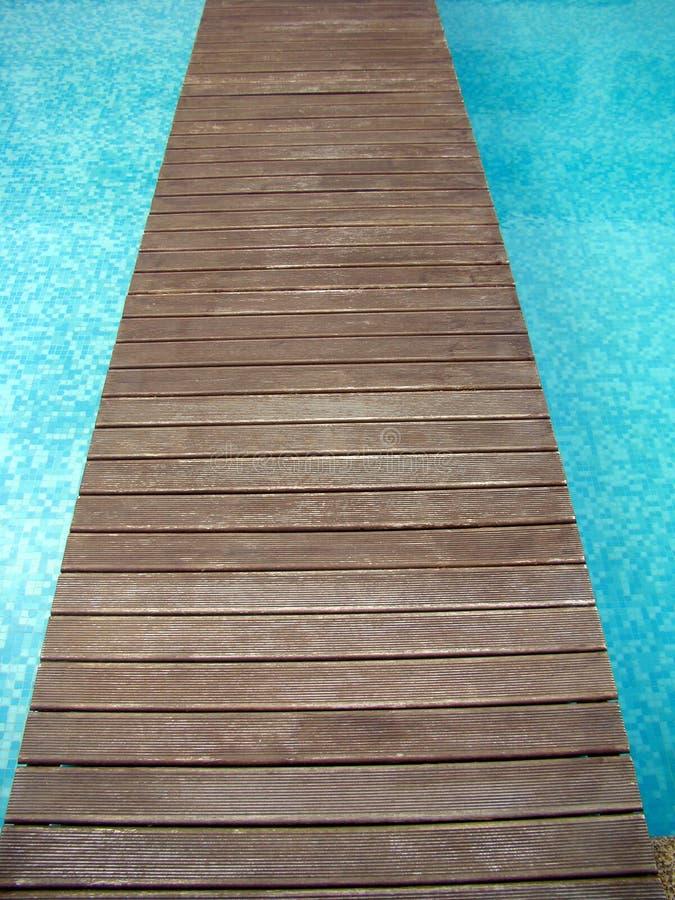Poolbrücke stockfoto