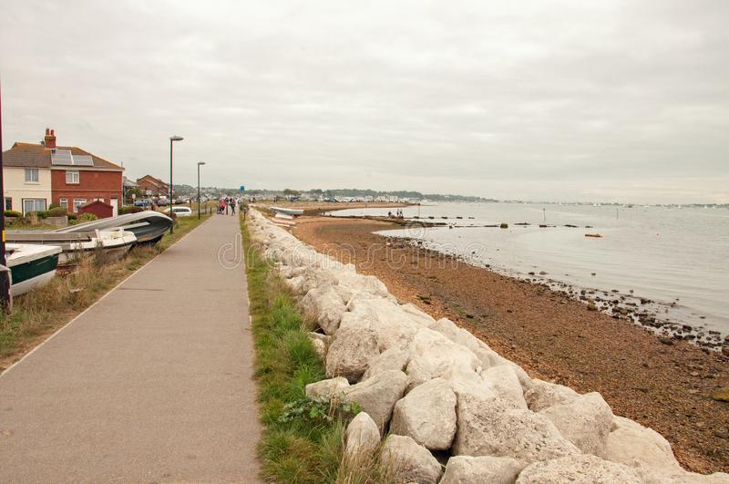 Poole港口海滨人行道夏令时 图库摄影