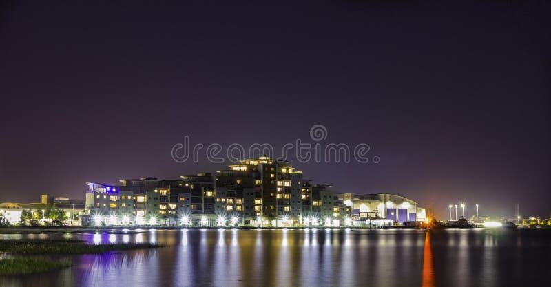Poole alla notte fotografia stock libera da diritti