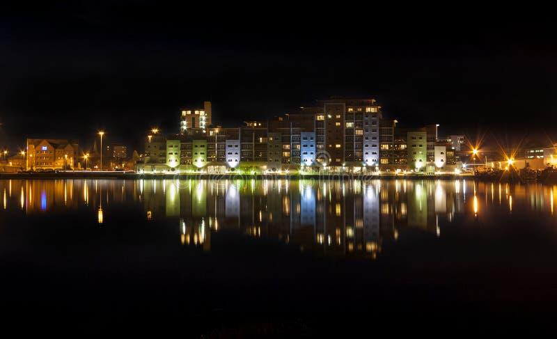 Poole Nighttime linia horyzontu fotografia royalty free