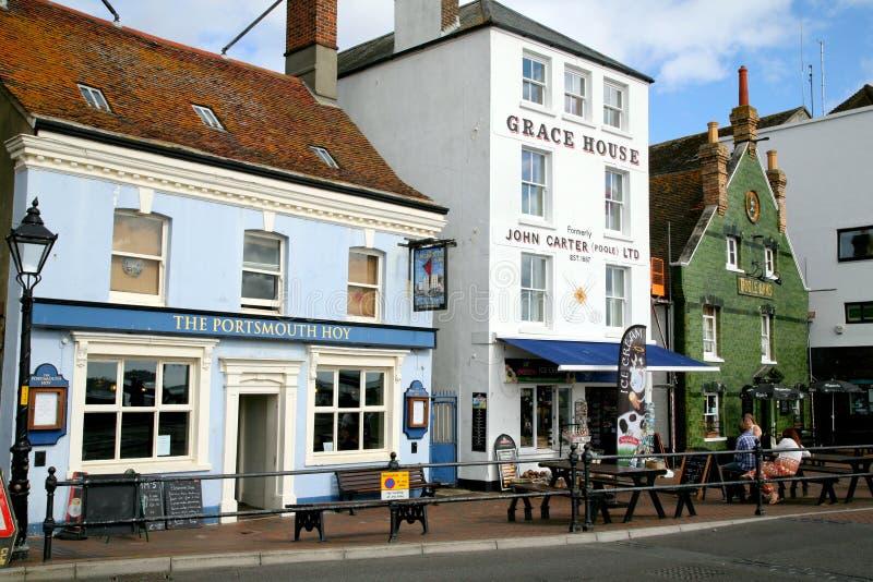 Poole Quay, Poole, Dorset fotografia stock
