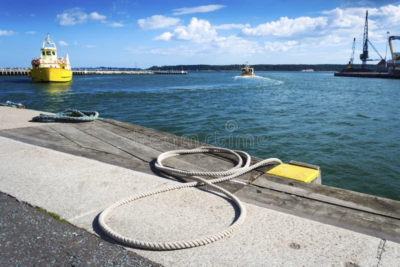 Poole Quay Z łodziami fotografia royalty free