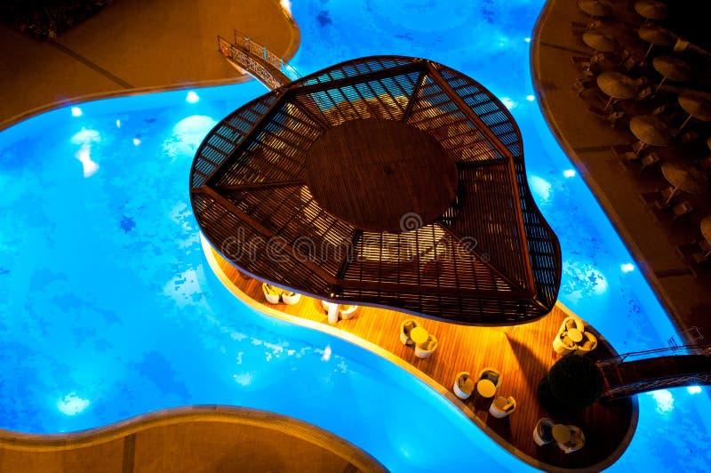 Poolhütte stockbild