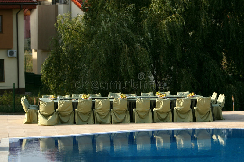 Poolparty stockbild