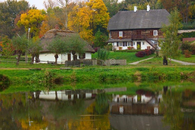 Pools dorp royalty-vrije stock afbeelding