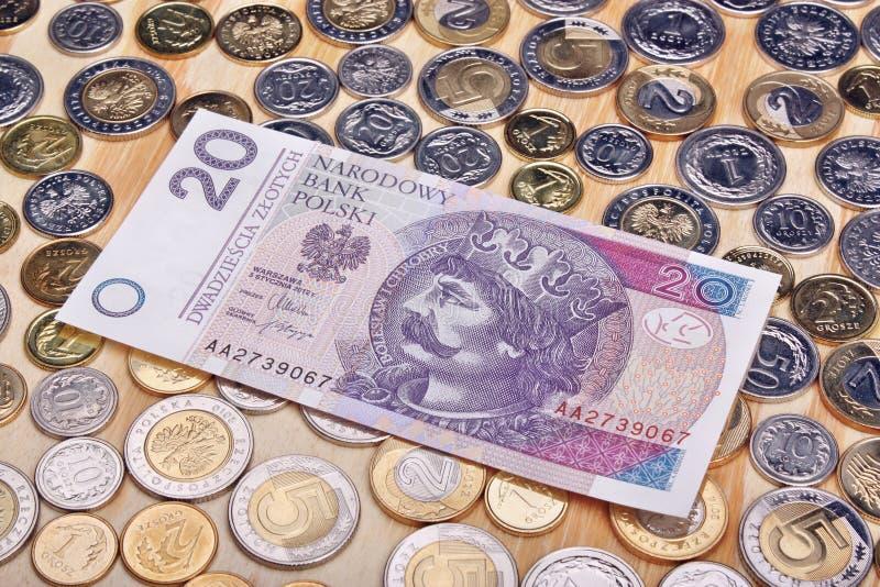 Pools geld royalty-vrije stock fotografie