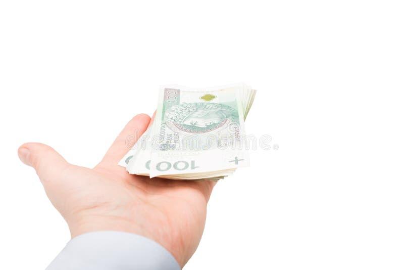 Pools Geld ter beschikking stock foto