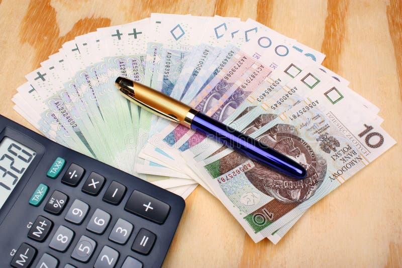 Pools geldsalaris royalty-vrije stock fotografie