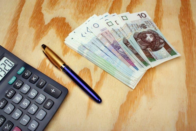 Pools geldsalaris royalty-vrije stock foto