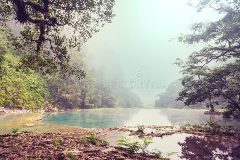 Pools in Guatemala stock photo