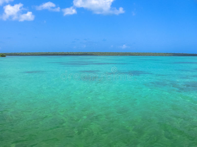Pools Isla Saona. The spectacular natural pool of Canto de la Playa, Saona Island in East National Park, Dominican Republic. Canto de la Playa is one of the most royalty free stock photography