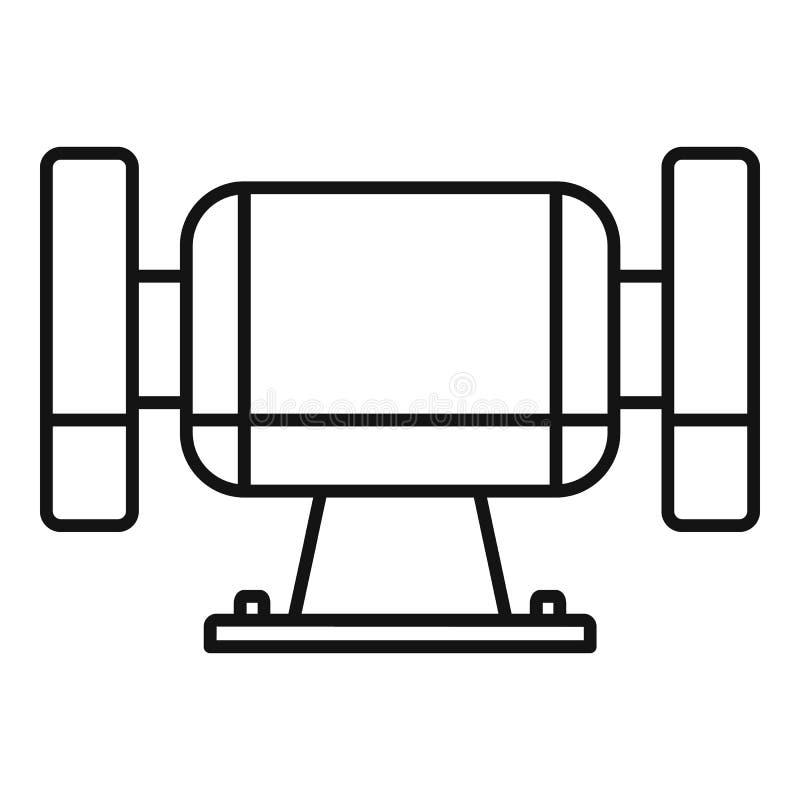 Pools mijterpictogram, overzichtsstijl vector illustratie