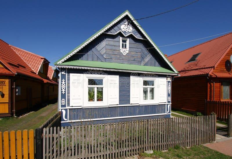 Pools plattelandshuisje stock afbeelding