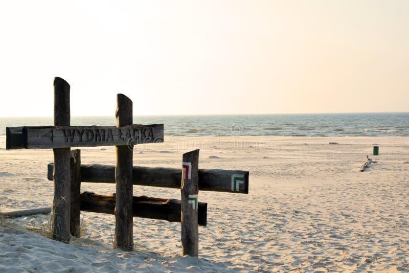 Poolse Baltische kust stock afbeelding
