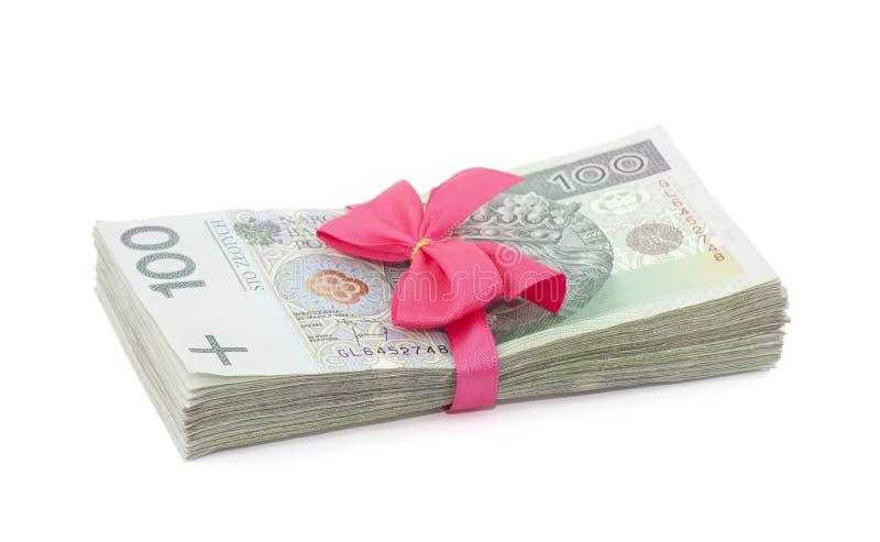 Poolse geldgift stock afbeeldingen