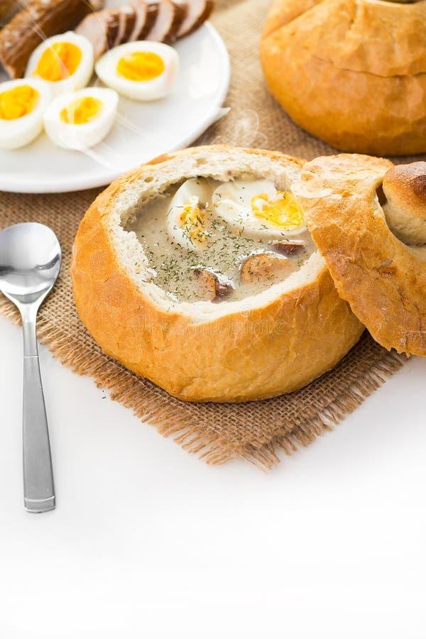 Poolse Pasen-soep stock afbeelding