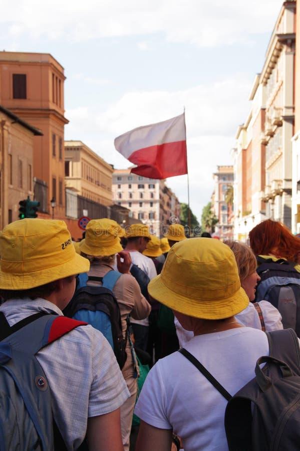 Poolse pelgrims stock afbeeldingen